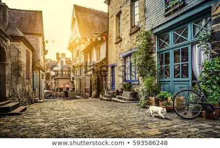 Historisch frans stad middellandse zee kust Stockfoto © hraska