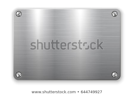 Metal plaque rectangle stock photo © markbeckwith