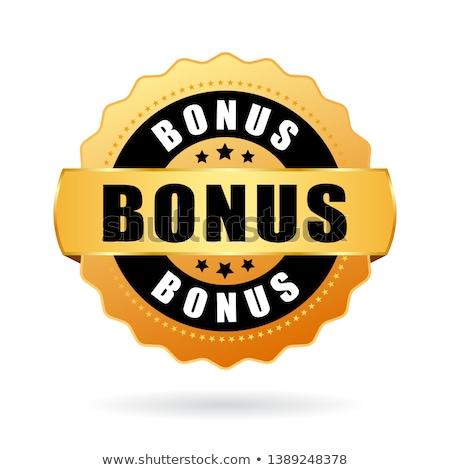 Stockfoto: Bonus · goud · vector · icon · knop · ontwerp