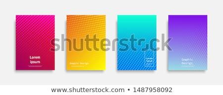 ハーフトーン テクスチャ 抽象的な 虹 印刷 ストックフォト © aliaksandra