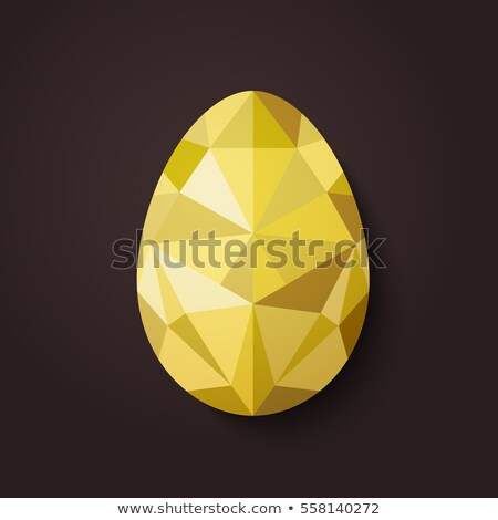 Minimalistic geometric vector Happy Easter card Stock photo © orson