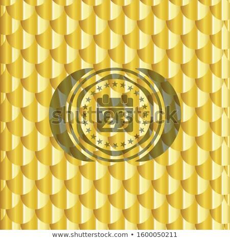 Calender Sign Golden Vector Icon Button Stock photo © rizwanali3d