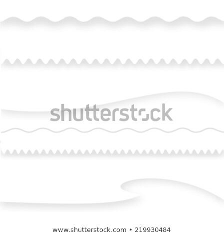 Bağbozumu kâğıt dalgalı sınır boş arka plan Stok fotoğraf © sanjanovakovic