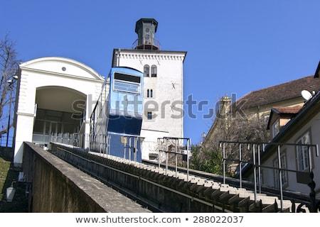 Funicular and Kula Lotrscak in Zagreb Stock photo © smuki