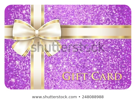Violet shiny gift card composed from glitters Stock photo © liliwhite