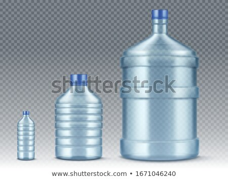 big and small plastic gallon containers Stock photo © ozaiachin
