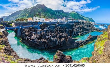 Yaz tatili Portekiz plaj kişi kart Stok fotoğraf © stevanovicigor