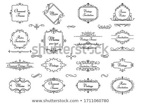 Decoratief monogram vier uitnodiging ontwerp natuur Stockfoto © Soleil