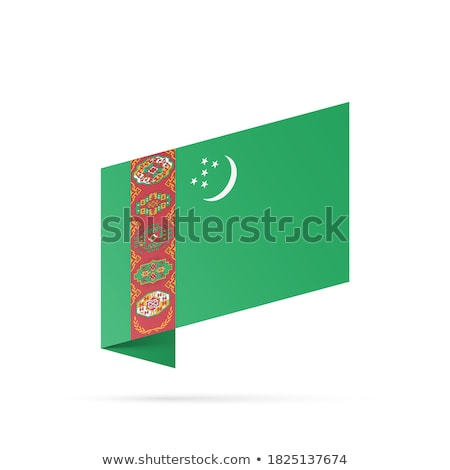 Turkmenistan · offiziellen · Flagge · Design · Welt · Mond - stock foto © istanbul2009