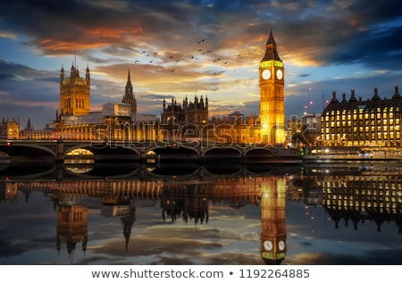 Westminster Skyline crépuscule Big Ben maisons parlement Photo stock © smartin69