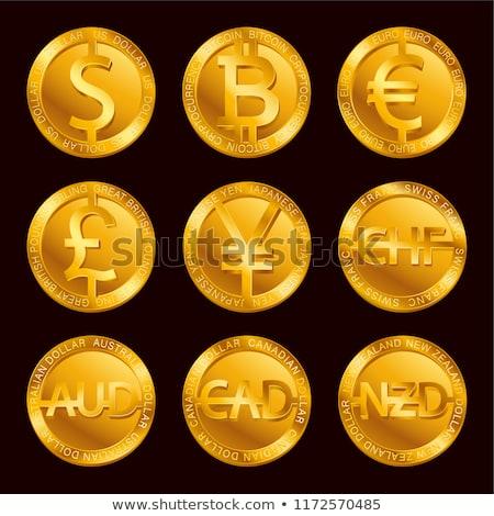3D or monnaie signes quatre réflexions Photo stock © krash20