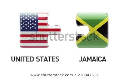 EUA Jamaica bandeiras quebra-cabeça vetor imagem Foto stock © Istanbul2009