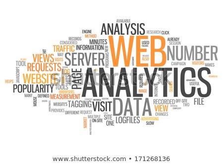 Kelime bulutu web analitik Internet trafik yazılım Stok fotoğraf © master_art