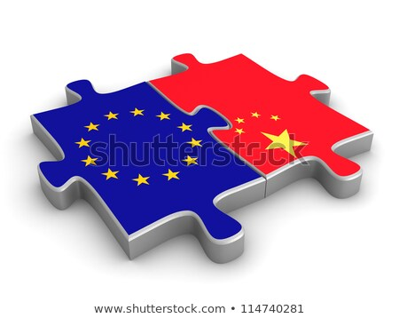 china and european union flags in puzzle stock photo © istanbul2009
