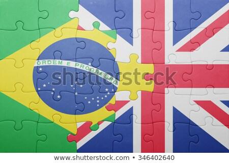Reino · Unido · Brasil · banderas · rompecabezas · vector · imagen - foto stock © istanbul2009