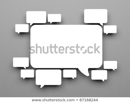 verde · balão · de · fala · grama · isolado · branco · textura - foto stock © iqoncept