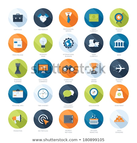 Colorful Travel Planning Icons Stock photo © Voysla