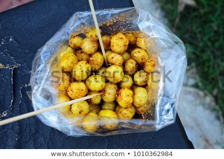 картофель пряный соус бумаги продовольствие Сток-фото © pedrosala