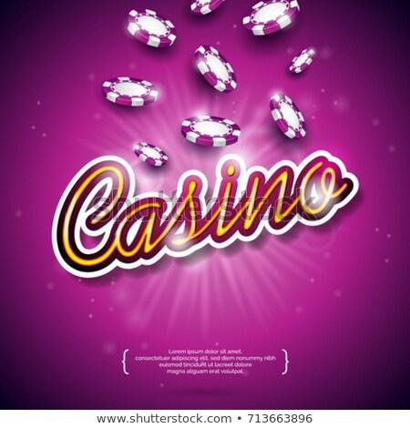 Gambling design elements Stock photo © Alessandra