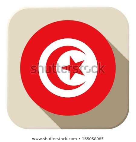 Comprimido Tunísia bandeira imagem prestados Foto stock © tang90246