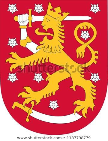 コート 腕 フィンランド デザイン ライオン 金 ストックフォト © netkov1