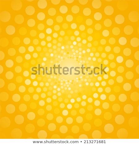 Citromsárga nap vektor absztrakt kör terv Stock fotó © blaskorizov