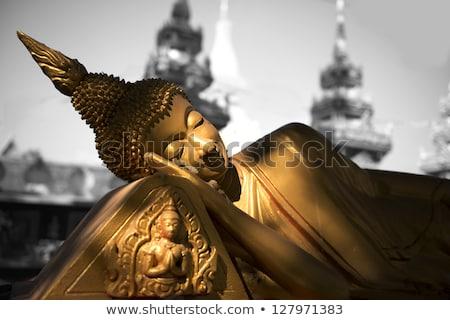 Ruined Buddha -  Laos Stock photo © jeayesy