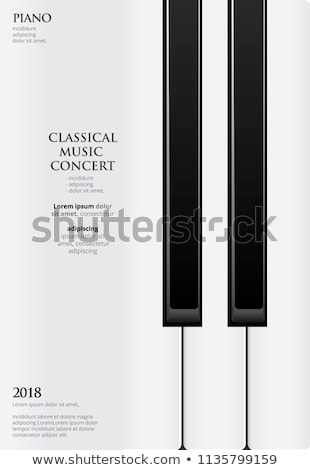 piano poster stock photo © bigalbaloo