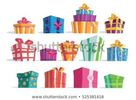 Levélpapír szín szalag fehér születésnap háttér Stock fotó © teerawit