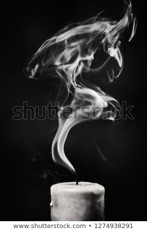 Extinguished candle with smoke Stock photo © ozaiachin