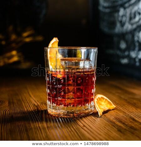 Cocktail gin Rood oranje Stockfoto © netkov1