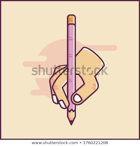Yazı kelime metin yazar kalem Stok fotoğraf © stuartmiles