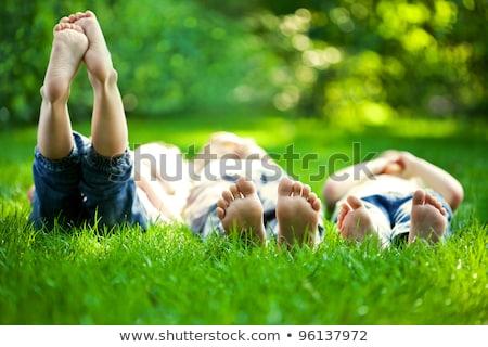 aile · bebek · sevmek · güzellik · anne · mavi - stok fotoğraf © paha_l
