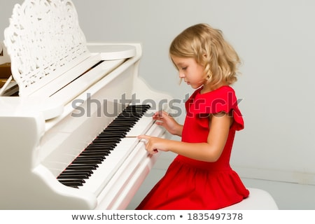 little girl and piano stock photo © paha_l