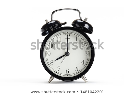 ストックフォト: 目覚まし時計 · 白 · 黒 · 表 · シェルフ · ヴィンテージ
