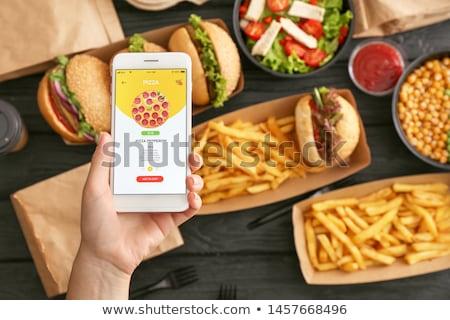 fastfood · restaurant · vector · ontwerp · illustratie · vierkante · lay-out - stockfoto © lenm