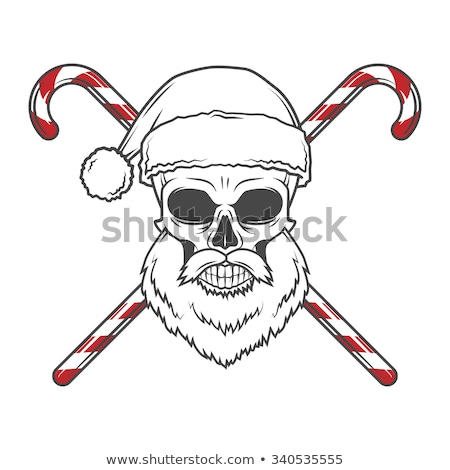 Christmas Skull with Cross Canes Stock photo © AlienCat