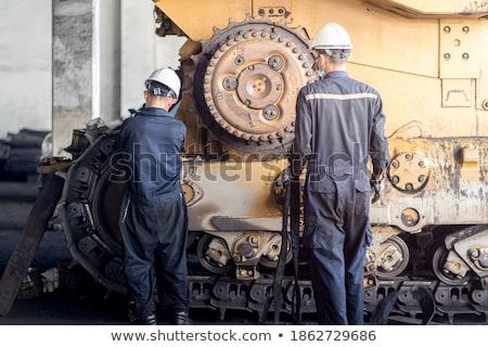 スーパー パワフル ブルドーザー トラクター 石炭 ストックフォト © papa1266