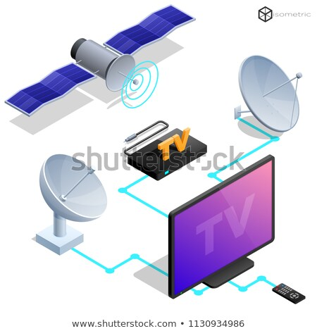 Tv satellite antenna eps 10 internet Foto d'archivio © ayaxmr