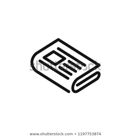 Gazete basın ikon toplama beyaz Stok fotoğraf © romvo