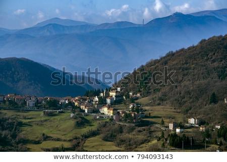 Görmek köy sokak yaz kilise Stok fotoğraf © Antonio-S