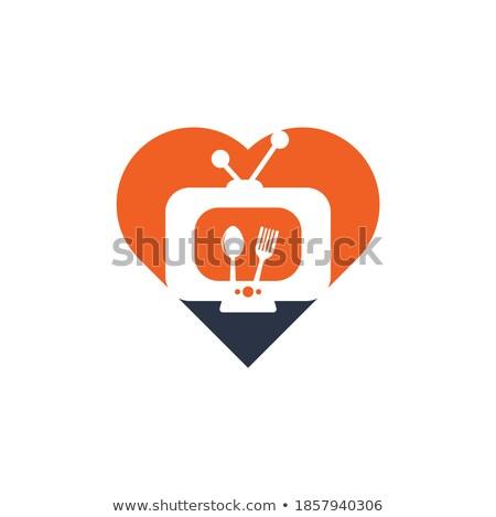 Love channel logo, online TV concept Stock photo © ikopylov