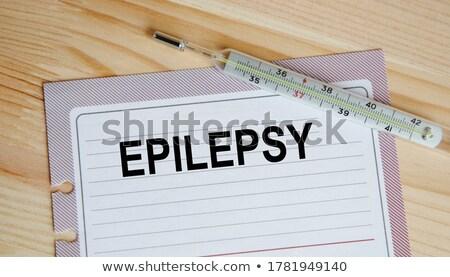 diagnóstico · escrito · clipboard · hospital · medicina · garrafa - foto stock © zerbor