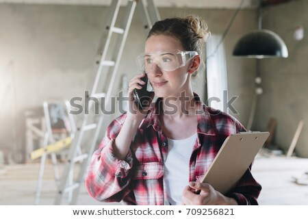 sexy · Homme · travailleur · de · la · construction · femme · construction · industrie - photo stock © zurijeta