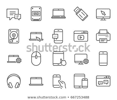 Solid state drive line icon. Stock photo © RAStudio