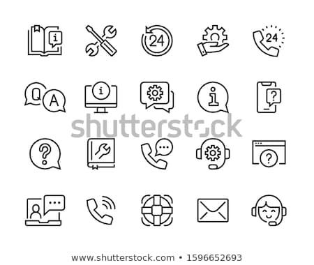Teknik destek ikon iş gri düğme dizayn Stok fotoğraf © WaD