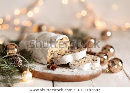 Dilimleri glasaj şekeri kek tatlı detay kuru üzüm Stok fotoğraf © Digifoodstock