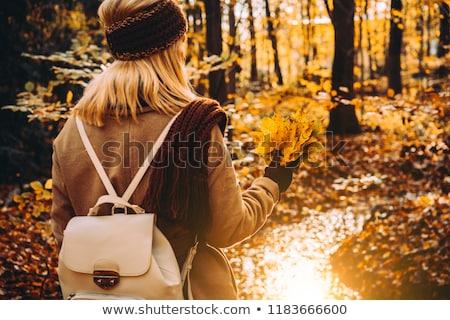 нежный женщину лес вид сзади Сток-фото © Anna_Om
