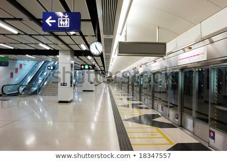 Ondergrondse licht trein metro interieur asia Stockfoto © cozyta