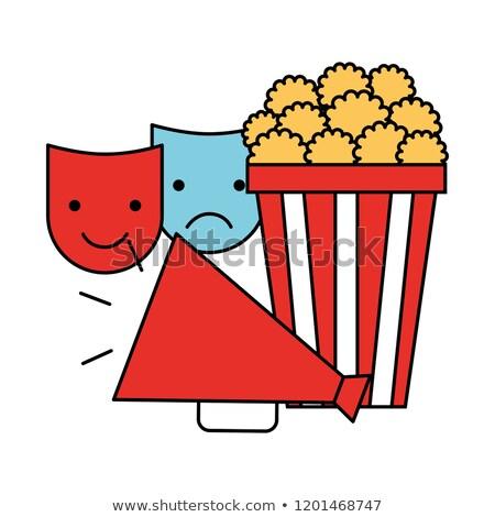 Película maratón iconos ilustración blanco rojo Foto stock © bluering